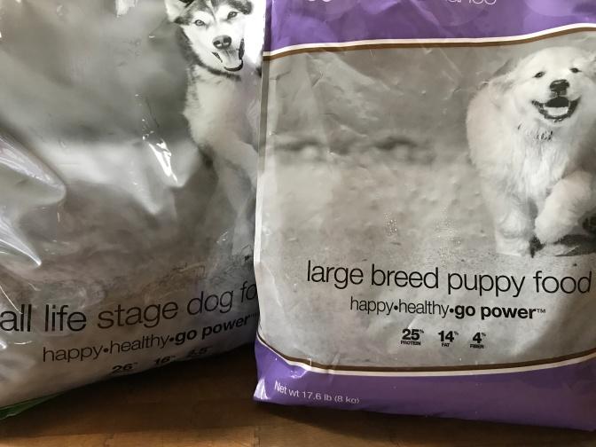 Dog food alarm bells!